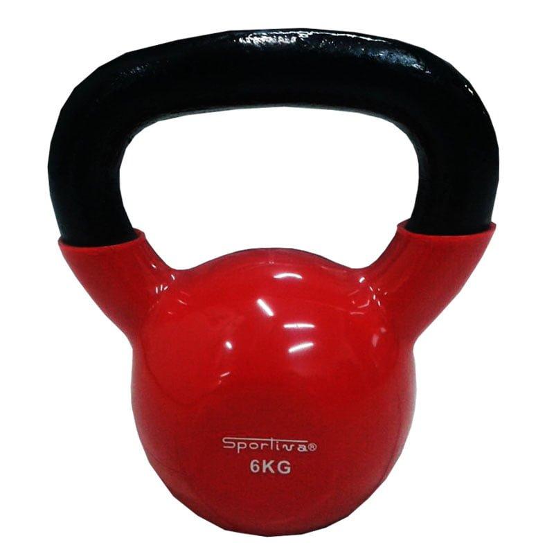 Pesas Rusas Kettlebell Mancuerna Sportiva 6kg Encauchetada Gym